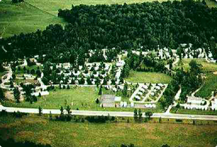 Aerial View of Leisure Time Campground Resort